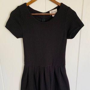 Gianni for Anthropologie Black Mini Dress A-Line